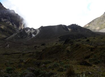 Volcanic domes inside the crater